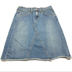 ۥ Levis Deconstructed Distressed Denim Skirt K10